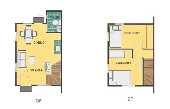 Mikaela Floor Plan House and Lot in Bacolod