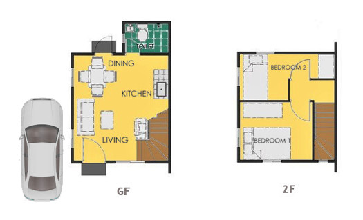Reva Floor Plan House and Lot in Bacolod
