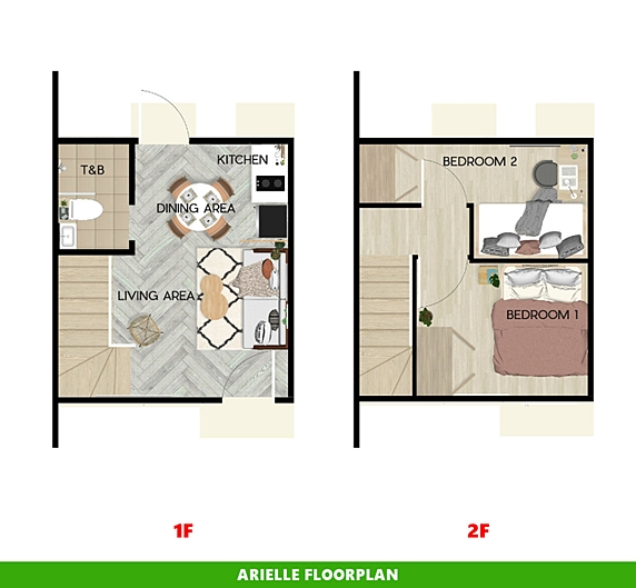Arielle Floor Plan House and Lot in Bacolod