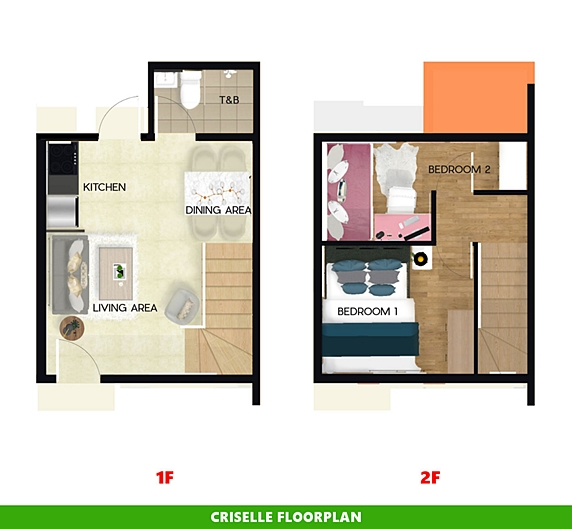 Criselle Floor Plan House and Lot in Bacolod