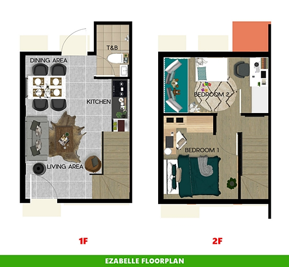 Ezabelle Floor Plan House and Lot in Bacolod