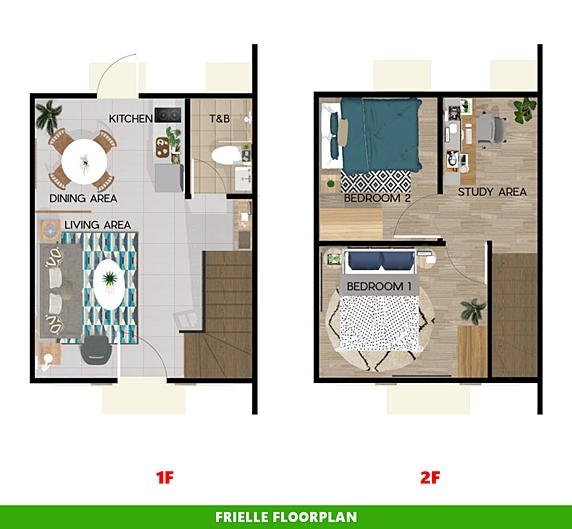Frielle Floor Plan House and Lot in Bacolod